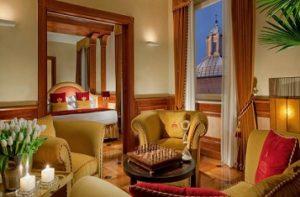 hotel room Hotel Raphael Rome
