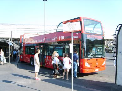 tourist bus at Termini Railway Station