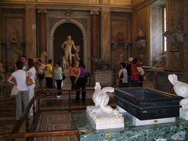watching art in the vatican museums Rome