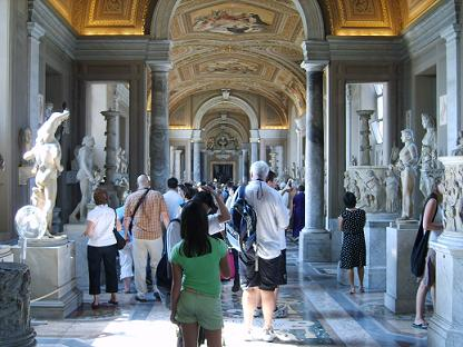 walking through the vatican museums